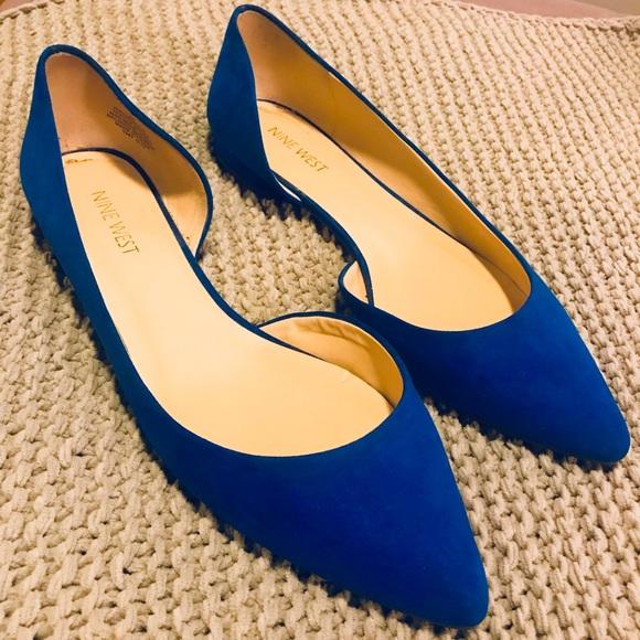 Nine West Shoes | Royal Blue Flats Size